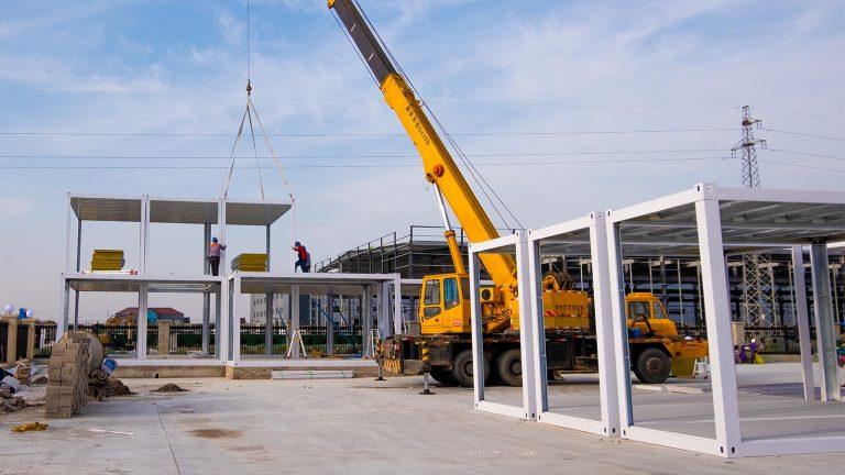 集装箱活动房二层吊装