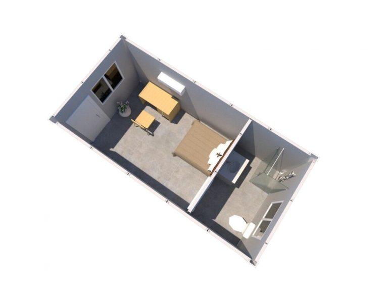 集装箱活动房单人宿舍